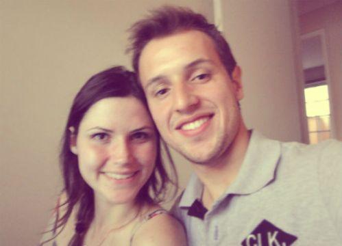Eu e o Wes na volta do Natal, que passamos na casa dos meus avós, em Jacarezinho (PR). Foi tirada no mesmo dia que a foto lá de cima